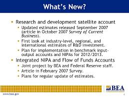 Bea National Economic Accounts Bureau Of National Economic Accounts What S And What S Coming Carol E