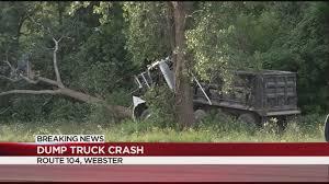 100 Dump Truck Crash Truck Crash Backs Up Traffic On Route 104 East WHECcom