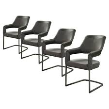 details zu 4er stuhl schwingstuhl esszimmerstuhl küchenstuhl sessel schwarz grau