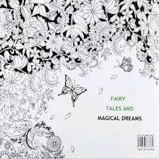 Fairy Tales And Magical Dreams Coloring Book Painting Mandalas Secret Garden Color Drawing Alice In Wonderland 2525cm 24pages Pages