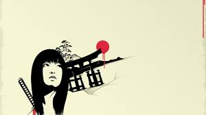 Japanese Artwork Simple Background Sketches Torii Wallpaper