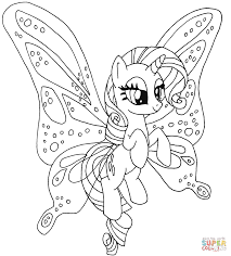 Click The Rarity Pony Coloring Pages
