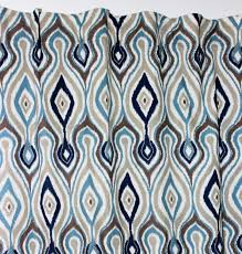Navy Geometric Pattern Curtains by Curtains Navy Blue Ikat Designs Patterned Pattern Curtainsnavy