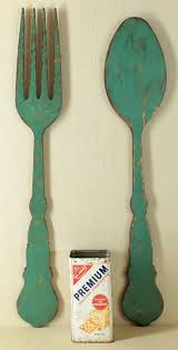 Wooden Fork And Spoon Wall Hanging by Paints Giant Fork And Spoon For Kitchen Target For 24 99 Love