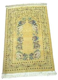 Muslim Prayer Rug Floral Design Lightweight Luxery Islamic Carpet Sajjadah Yellow