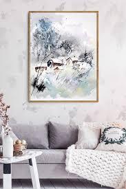 pol ledent winterliches dorf poster geschenkideen