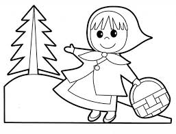 Little People Red Riding Hood Coloring Pages Batch In