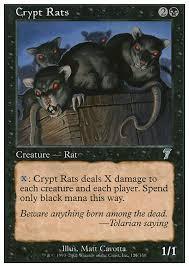 crypt rats 7ed mtg card