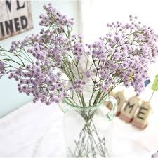 1PC 55cm Purple Baby s Breath Artificial Flowers Branch Hand Made