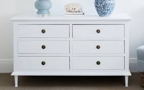 White Chest of Drawers 6 Drawer