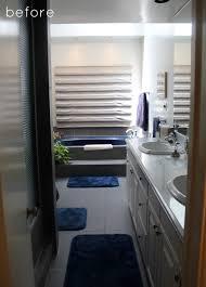 before after minimalist bathroom makeover design sponge