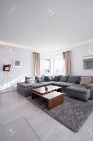 gemütliche und moderne wohnzimmer im haus