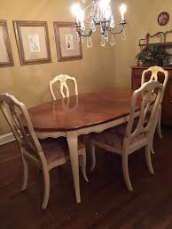 Ethan Allen Country French Dining Room Table And Chairs EBay
