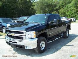 2007 Chevrolet Silverado 2500HD LTZ Extended Cab 4x4 In Black ...