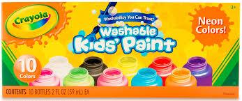 Crayola Bathtub Fingerpaint Soap Set by 10 Color Neon Washable Kids Paint Walmart Com