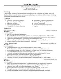 Assembler Resume Examples Free To Try Today