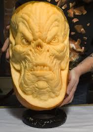 Ray Villafane Pumpkins by Halloween Pumpking Carving Master Ray At Work Photo