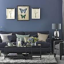 Denim Blue And Grey Living Room