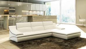 Poundex Bobkona Sectional Sofaottoman by 2315 Modern White Leather Sectional Sofa Sectional Sofa Modern