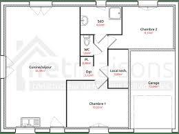 plan de maison 2 chambres plan maison plain pied 70m2 5 2 chambres systembase co
