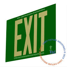 pwm l nyc photoluminescent signs exit light co