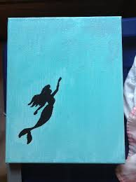 The Little Mermaid Disney Canvas Painting Lighting Isnt Very Good You Cant Really See Sparkles On Top Half Of