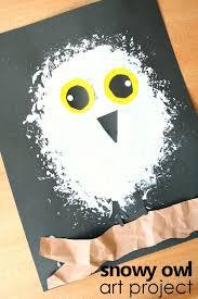Snowy Owl Art Project Arctic Animal Preschool Winter Activity Kidart Arcticanimals