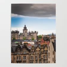 100 Edinburgh Architecture View Of Architecture From Victoria Street Poster By Bradleyhebdon