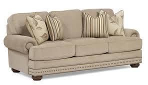 Broyhill Emily Sofa Navy by Champion Transitional Button Tufted Sofa With Rolled Arms And