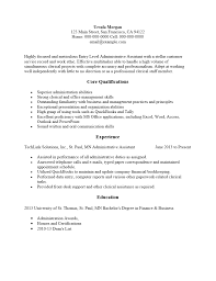 Free Entry Level Administrative Assistant Resume Template