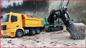 Excavator For Children | Truck For Kids | Truck Car | Video ...