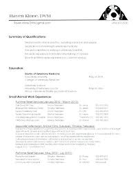 Veterinary Technician Resume Sample Vet