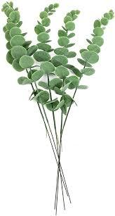 dedc 5 stk künstliche pflanzen eukalyptus zweige grüne deko künstliche leaf hochzeit home dekoration zubehör wand dekoration für balkon wohnzimmer