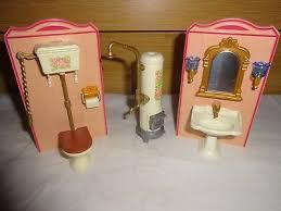 playmobil badezimmer möbel einrichtung nostalgie villa rosa