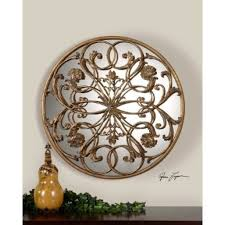 Tuscan Wall Decor Ideas by Uttermost Domenica Wall Art Decor With Antiqued Mirrors Uttermost