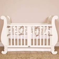 Bratt Decor Crib Skirt by Bratt Decor Chelsea Sleigh Crib In White