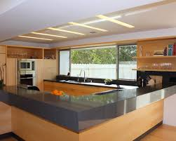 interior design contemporary kitchen with l shaped counter for