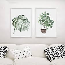 ysoutstripdu nordischen stil leinwand malerei 30 cm grün