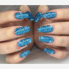 Nail Polish Fresh Blue Nail Polish With Glitter You Look
