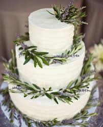 Lavender Wreath Rustic Buttercream Wedding Cake