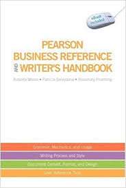 Pearson Desk Copy Return by Pearson Business Reference And Writer U0027s Handbook With