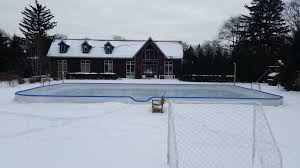 Custom Ice Rinks - Backyard Rink Installations