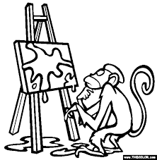 The Easel Coloring Page