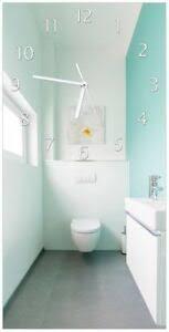 details zu wallario design wanduhr acrylglas 30 x 60 cm badezimmer gästetoilette