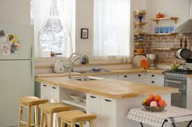 warm kitchen cabinet colors stained wooden kitchen island white