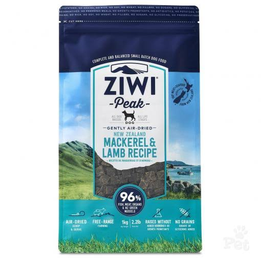 ZiwiPeak Air Dried Dog Food - Mackerel & Lamb, 1kg