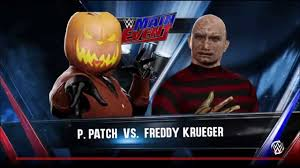 Freddy Krueger Pumpkin by Pumpkin Patch Vs Freddy Krueger Wwe 2k16 Youtube