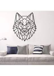 lsdaeer geometrische origami wolf kopf wandaufkleber