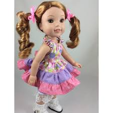 Flutter Dress For 145 American Doll Pinterest