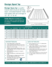 Floor Joist Span Table Deck by Bpm Select The Premier Building Product Search Engine Metal Deck